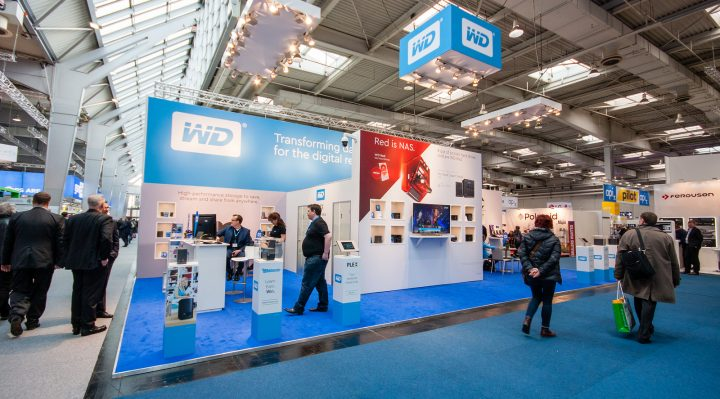 Booth of Western Digital company at CeBIT information technology trade show